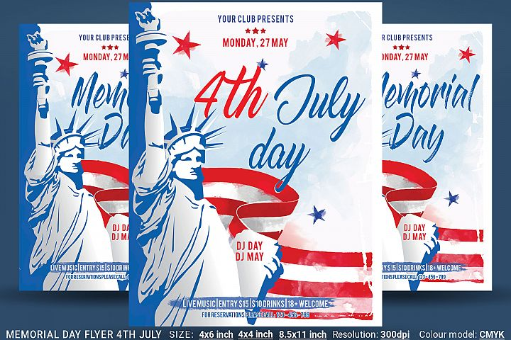 Memorial Day Flyer 4th July
