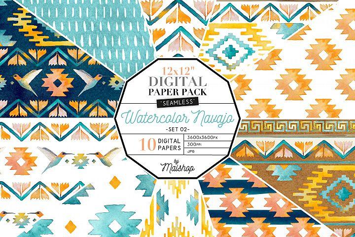 Digital Scrapbooking Paper - Watercolor Navajo Set 02