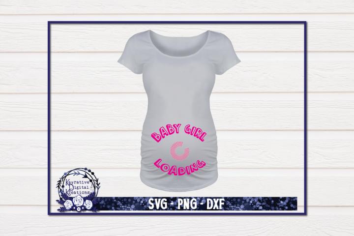 Pregnancy Shirt SVG - Baby Girl Loading
