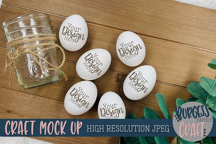 Farm style eggs Craft mock up |High Resolution JPEG