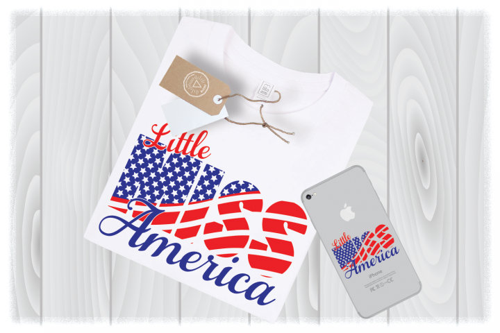 Little Miss America SVG Files 4th of July Girl Designs Cricut- Independence Day SVG – Memorial Day SVG – Patriotic SVG – Fourth of July SVG