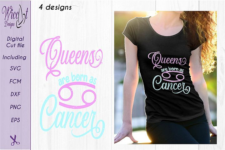 Cancer sign svg, Zodiac quote svg, Queens quote svg, born as svg,  word art svg,