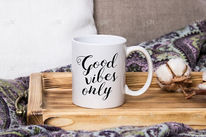 Cozy Home Mug Mock-up. PSD&JPG