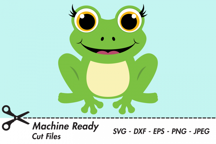 Cute Frog SVG Cut Files. Woodland Pond Animal