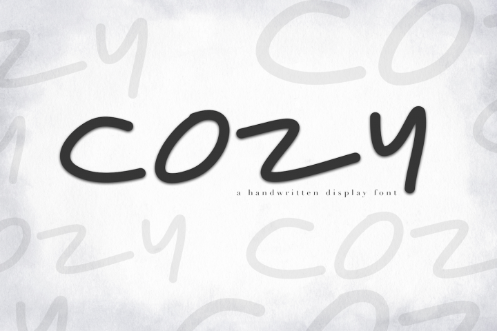 Cozy - A Handwritten Display Font