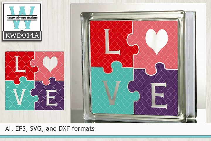 Valentines SVG - LOVE Puzzle