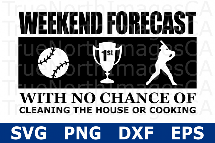 Weekend Forecast Baseball - A Sports SVG Cut File