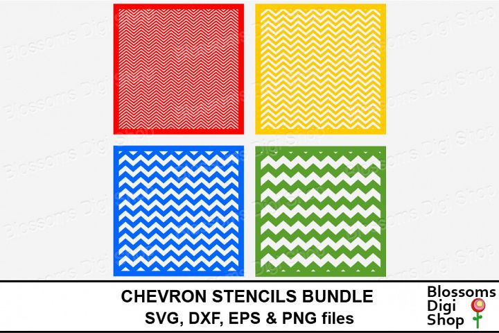 Chevron Stencils Bundle