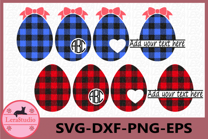 Eggs Buffalo Plaid Svg, Easter SVG, Easter Eggs Svg, Egg