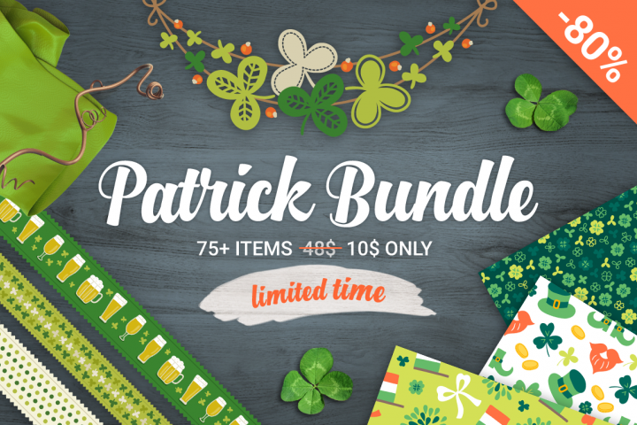 80 Off - Patricks Day Big Bundle