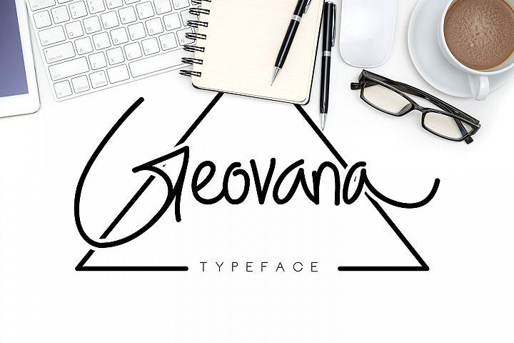 Geovana Signature Typeface
