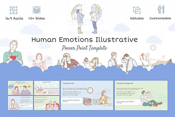Human Emotions Illustrative Template