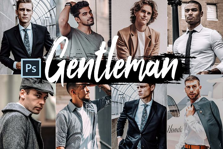05 Gentleman Photoshop Actions, ACR and LUT presets