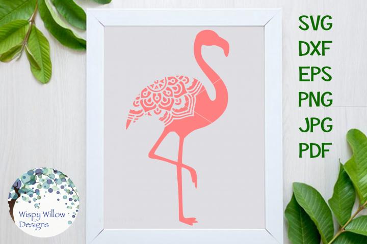 Flamingo Mandala, Animal Mandala SVG Cut File