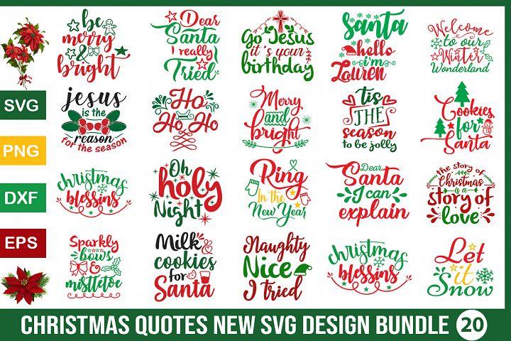 Christmas new quotes SVG Design Bundle
