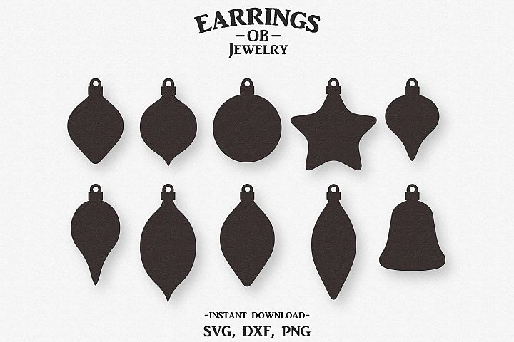 Christmas Ornament Earring Svg, Stacked, Teardrop, Cut File