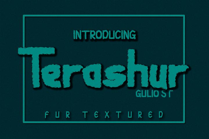 Terashur Textured Typeface