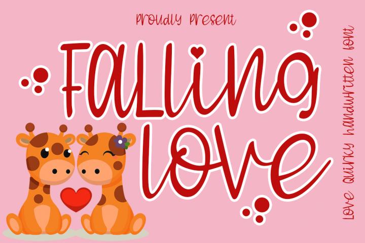 Falling Love Quirky Handwritten Font
