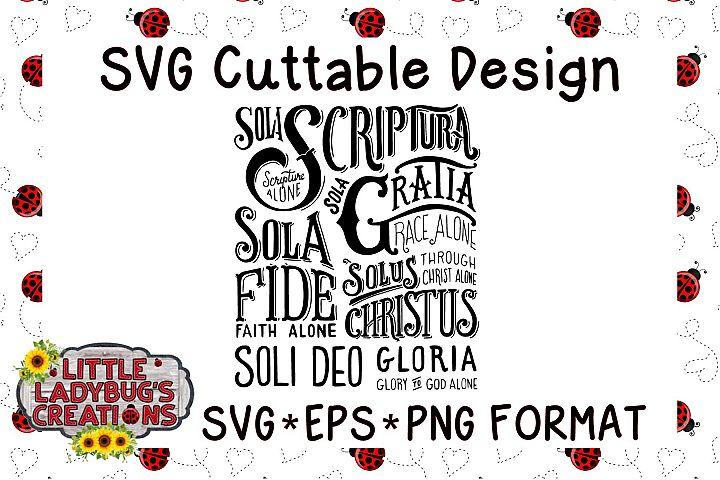 Sola Scriptura SVG-EPS-PNG Format Cuttable File