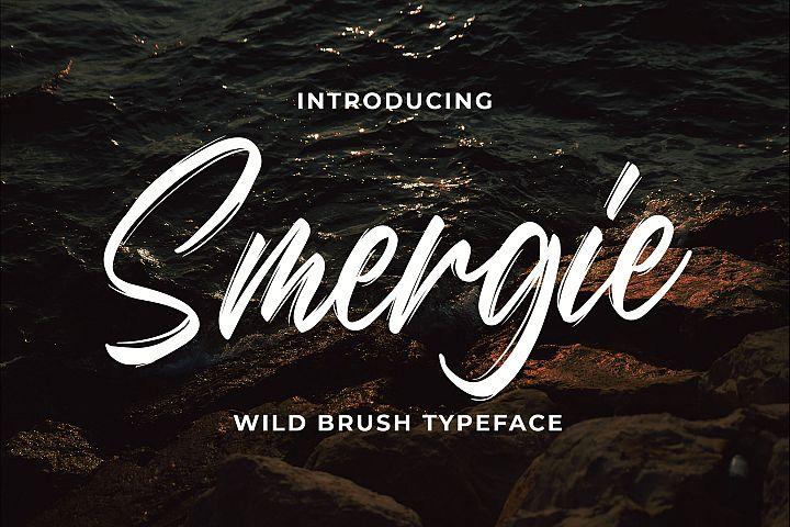 Smergie - Wild Brush Typeface