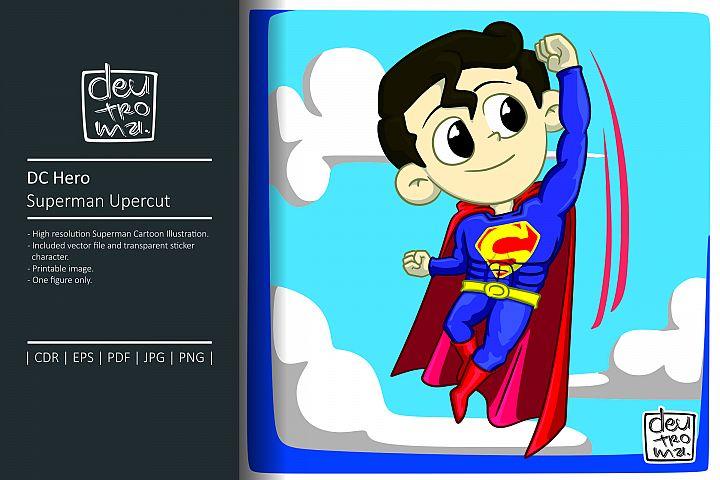 DC Hero Superman Cartoon Illustration Vector