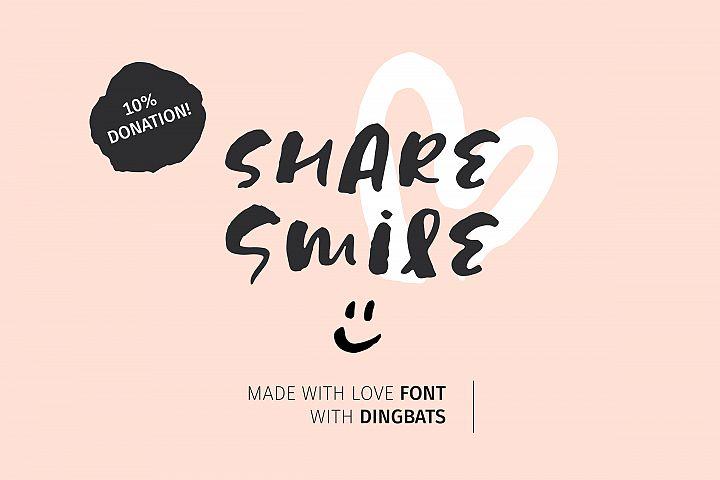 Share Smile - Brush Font Dingbats