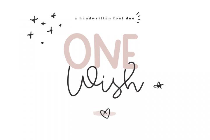 One Wish - Handwritten Script & Print Font Duo