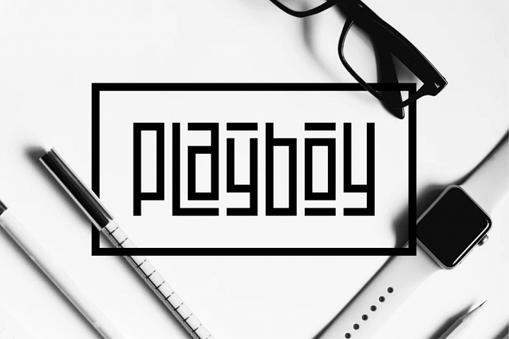 Playlines - Display Typeface example 3