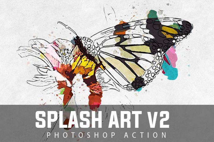 Splash Art V2 Photoshop Action