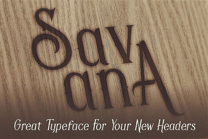 Savana - Display Font example image 3