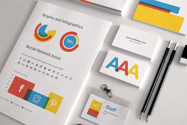 Full Stationery Identity, Proposal, Report. Resume Templates