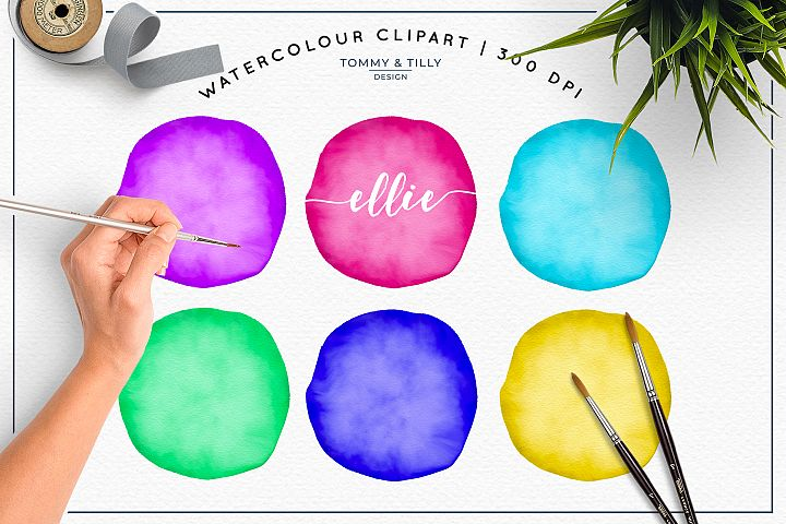 Blank Watercolour Circles - Sublimation | PNG | Clipart