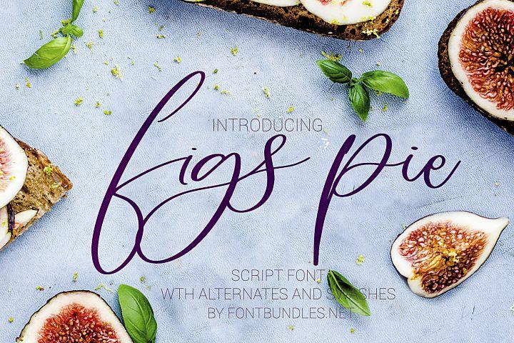 Figs Pie Script Font