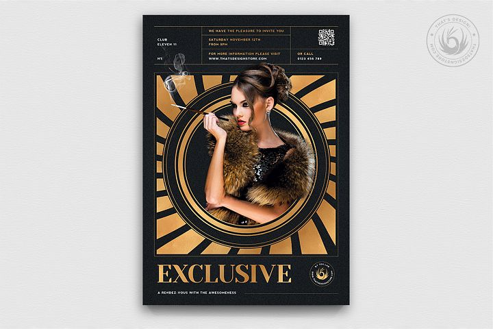 Exclusive Party Flyer Template V3