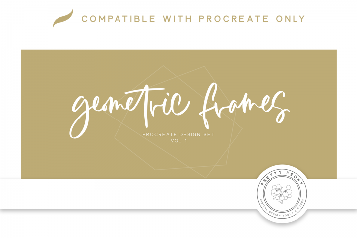20 Procreate Geometric Frame Stamps