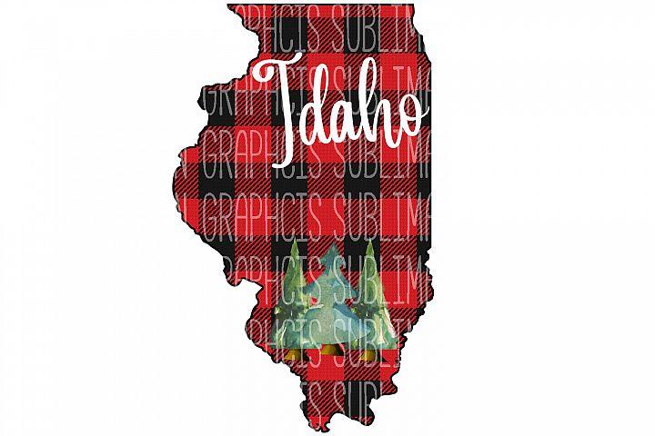 Illinois Plaid Sublimation Digital Download