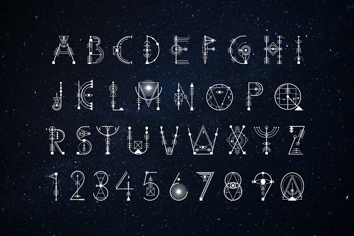Sacred Geometry Font example image 9
