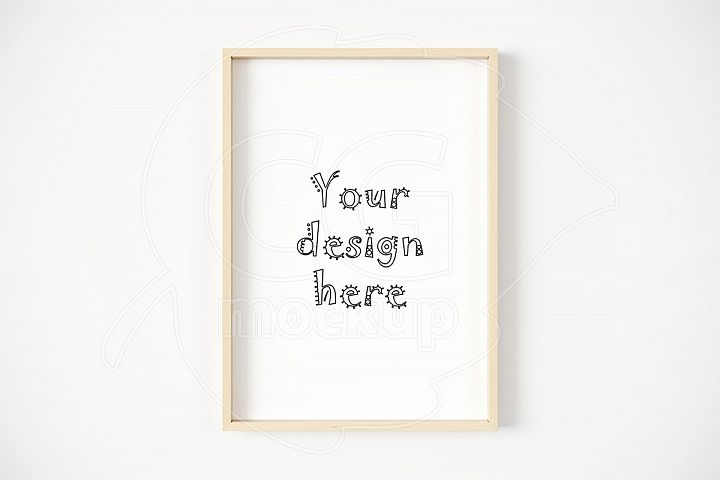 Mockup frame CREATOR size A4