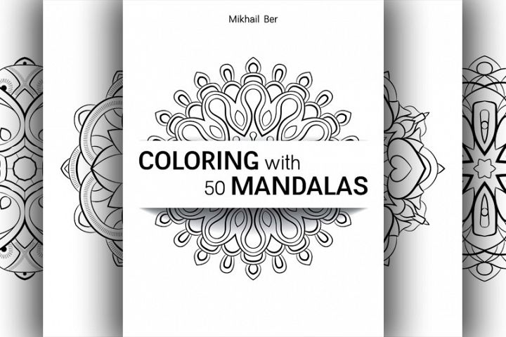 Coloring with 50 floral mandalas