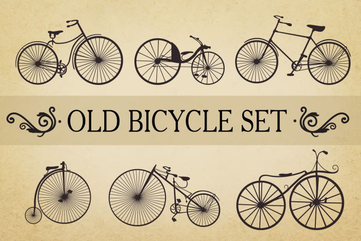 Bicycle Vector Set Old