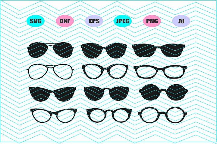 Sunglasses Svg Vector File Silhouette Cricut Design Vinyl