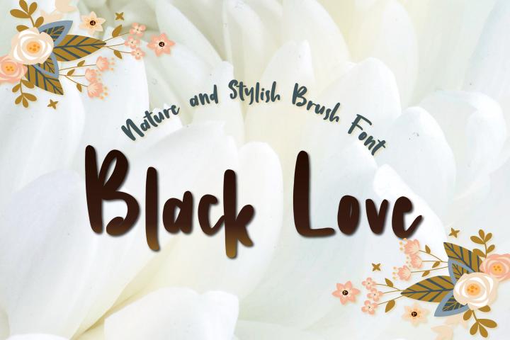 Black Love  Nature Handbrush