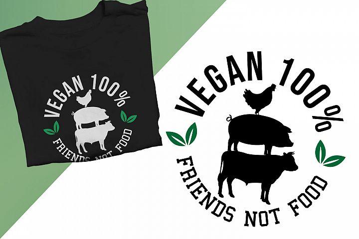 Vegan 100 Percent Friends not food