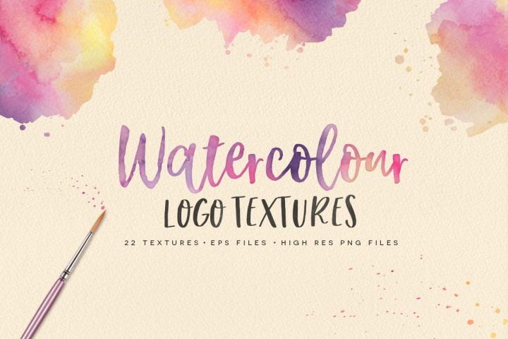 22 Watercolour Logo Textures