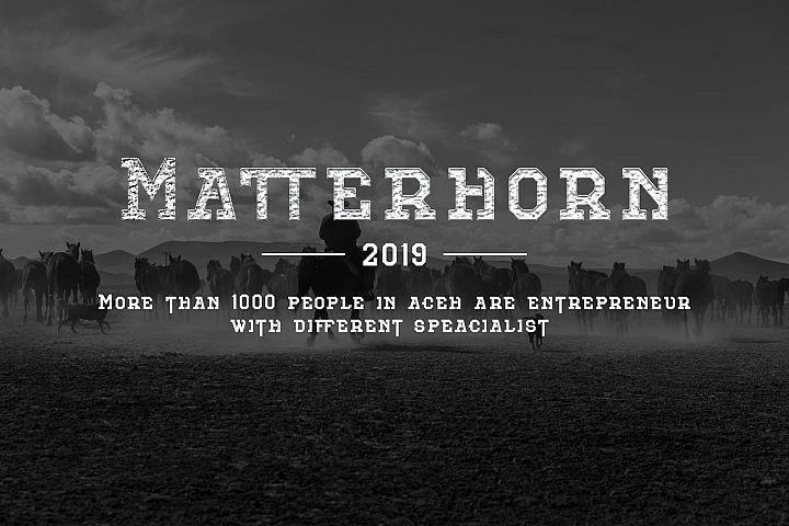 Matterhorn Regular-Slab serif typeface
