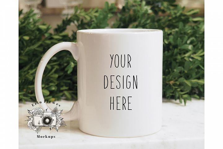 11 oz White Coffee Mug Mockup - Lifestyle Stock Photography