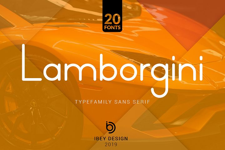 Lamborgini - 20 Fonts Included