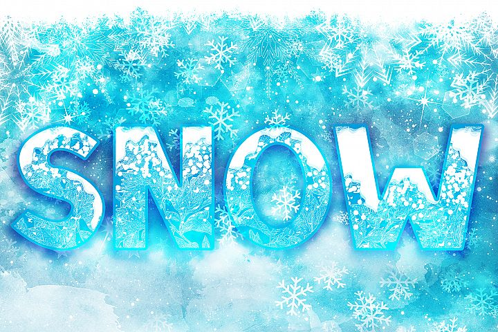 SNOW - Font Family for Christmas!