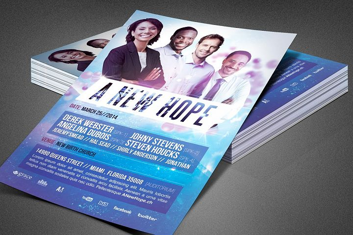 A New Hope Church Flyer Template