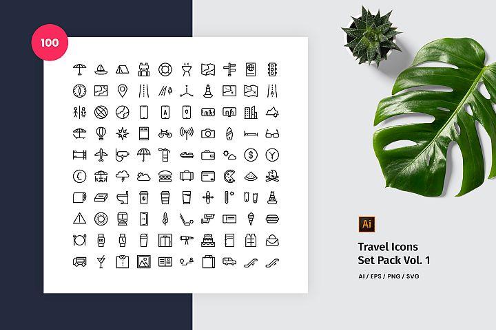 Travel 100 Set Icon Pack Vol. 1
